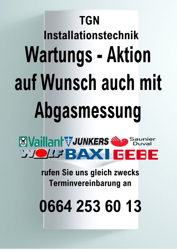 Gas Therme Wartung Service Abgasmessung