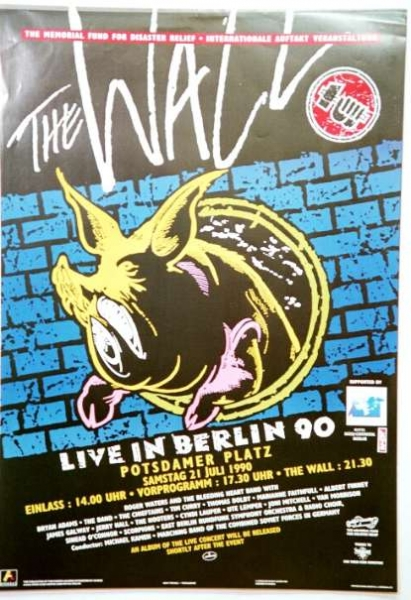 Pink Floyd -THE WALL -live in berlin1990 -the pig -PLAKAT